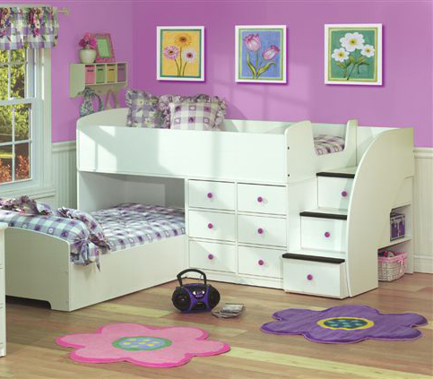 Sierra Captains Bed for Two with Stairs-Berg