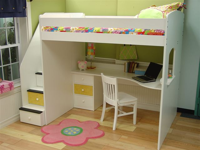 Utica Full Loft with Study Station-Berg