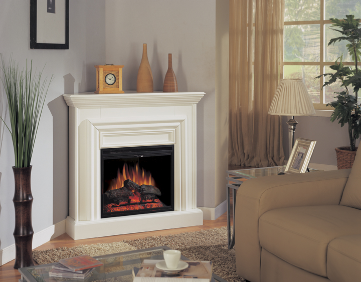 Shop Amherst Corner White Electric Fireplace 23 inch-Classic Flame at Homelement at everyday low price. The Amherst corner mantel features a traditional white finish.