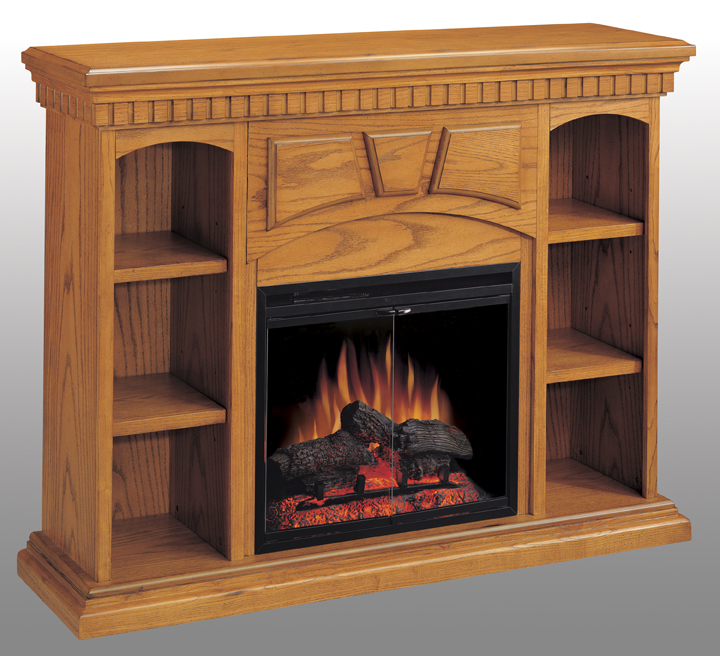 Shop Portland Premium Oak Bookcase Electric Fireplace 23 inch-Classic Flame at Homelement at everyday low price. The Portland features a premium Oak Finish.