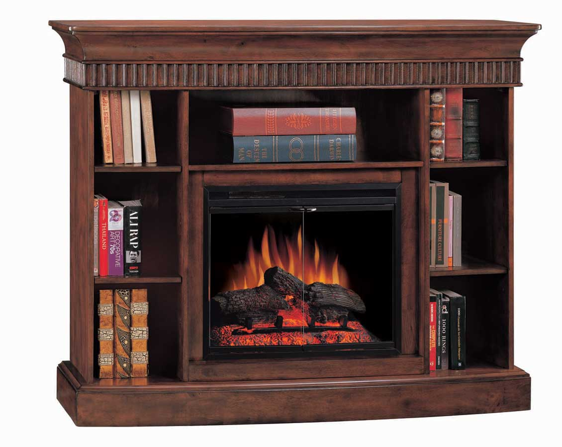 westbury burnished walnut bookcase electric fireplace 23 inch classic flame 23wm138wal 0501 at. Black Bedroom Furniture Sets. Home Design Ideas