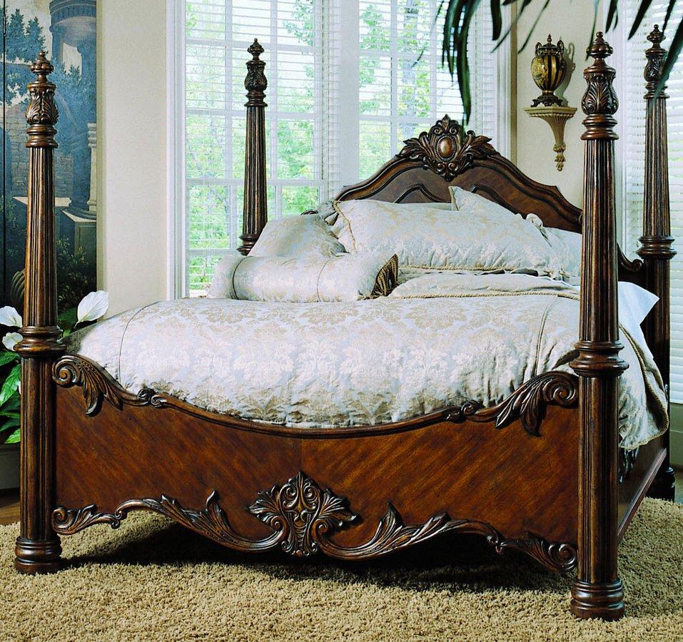 pulaski edwardian bedroom furniture pulaski edwardian poster bed pf 242150 at