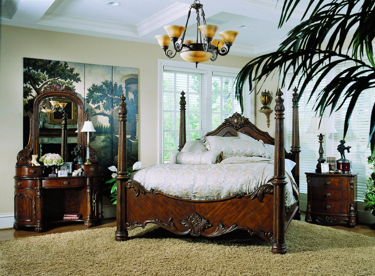 pulaski edwardian poster bedroom collection pf b242150 at. Black Bedroom Furniture Sets. Home Design Ideas