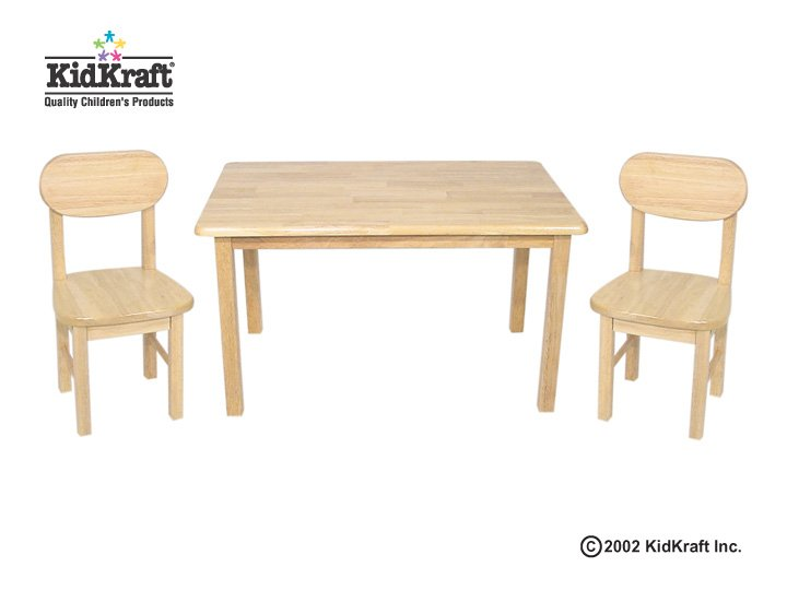 KidKraft Rectangle Table and Chair Set - Natural