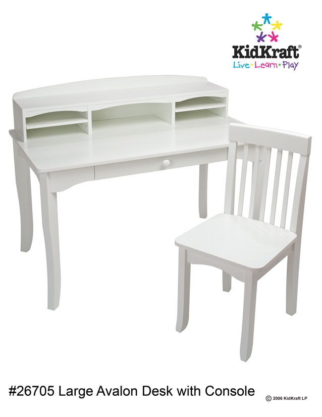 KidKraft Avalon Desk With Hutch And Chair White For Sale : 26705 <strong>Receptionist</strong> Desk for Sale from goplaytime.blogspot.com size 638 x 825 jpeg 38kB
