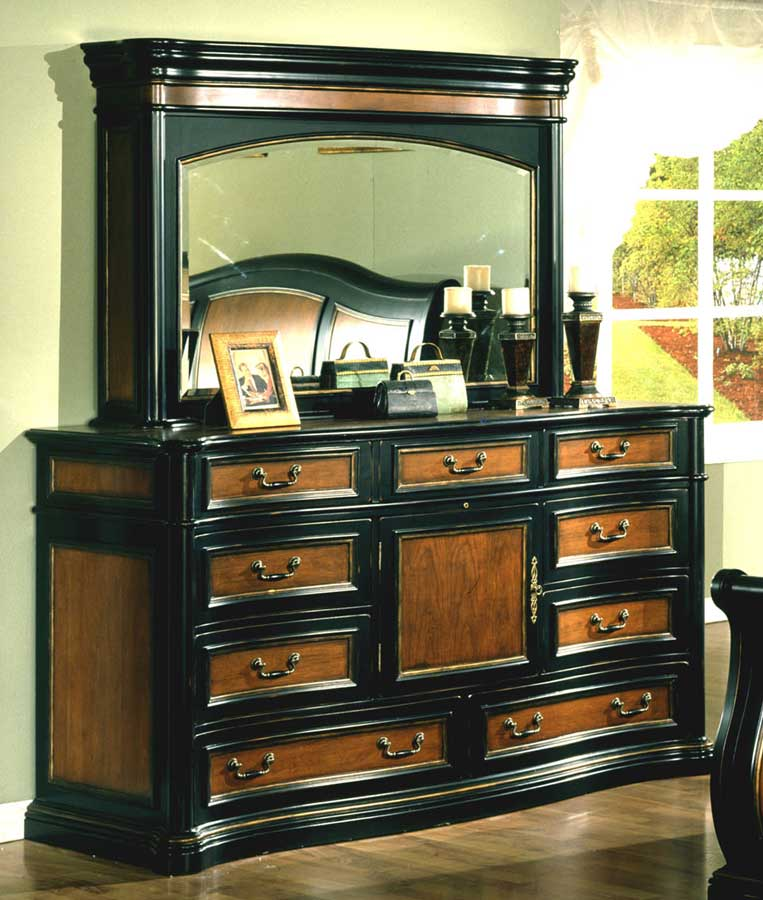 Cheap Signature Home Lafayette Hideaway Mirror Dresser
