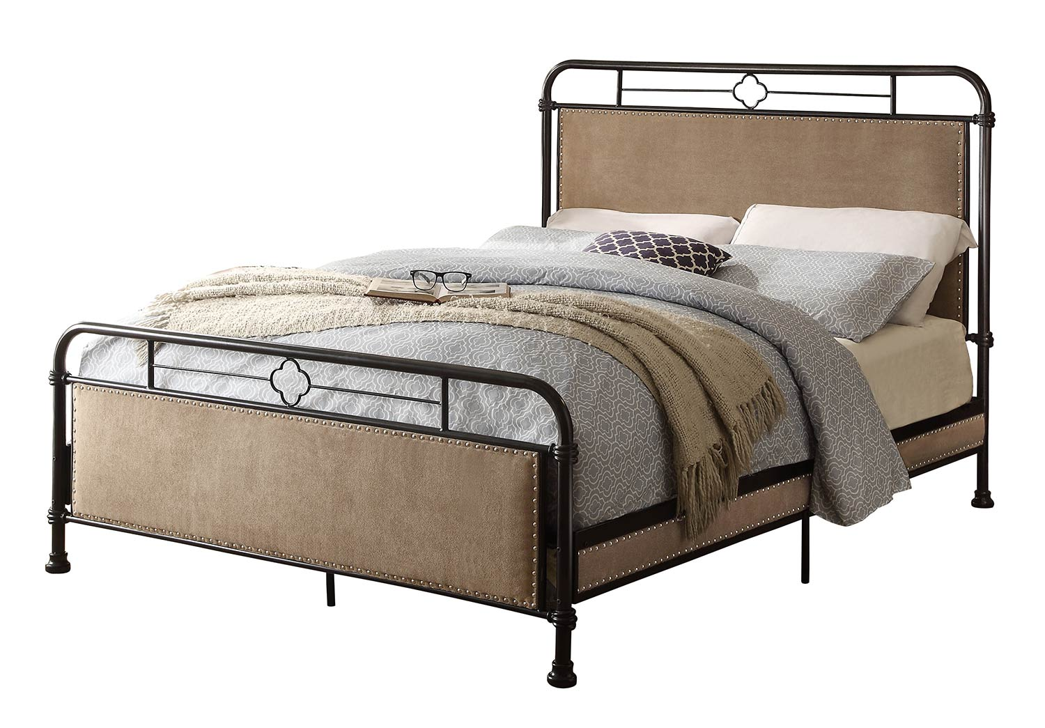 Homelegance Tayton Bed - Black/Brown