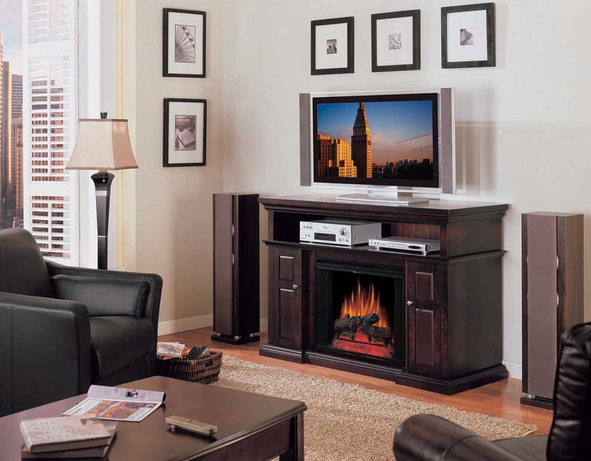 Home Theater with Electric Fireplace