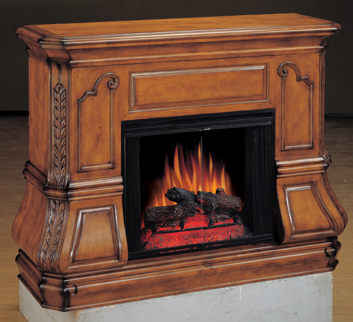 champlain rustic pine bombay electric fireplace 28 inch classic flame