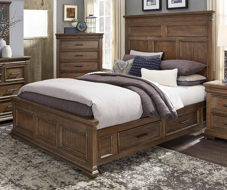 Homelegance Narcine Platform Bed with Storage Drawers