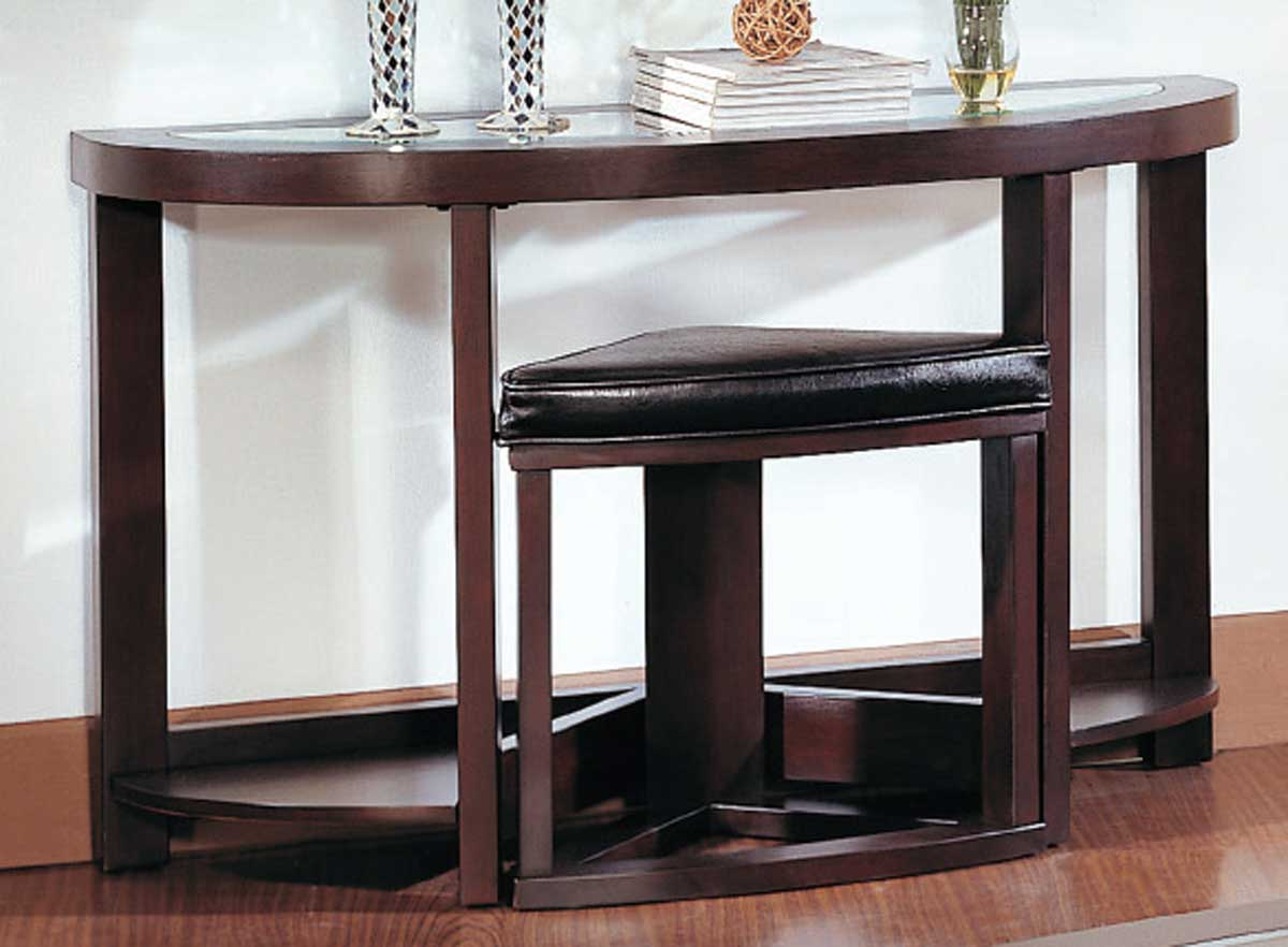 Console Table With Stools ~ Homelegance brussel console table with stool at