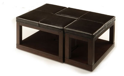 Homelegance Frisco Bay L Ottoman Cocktail Table