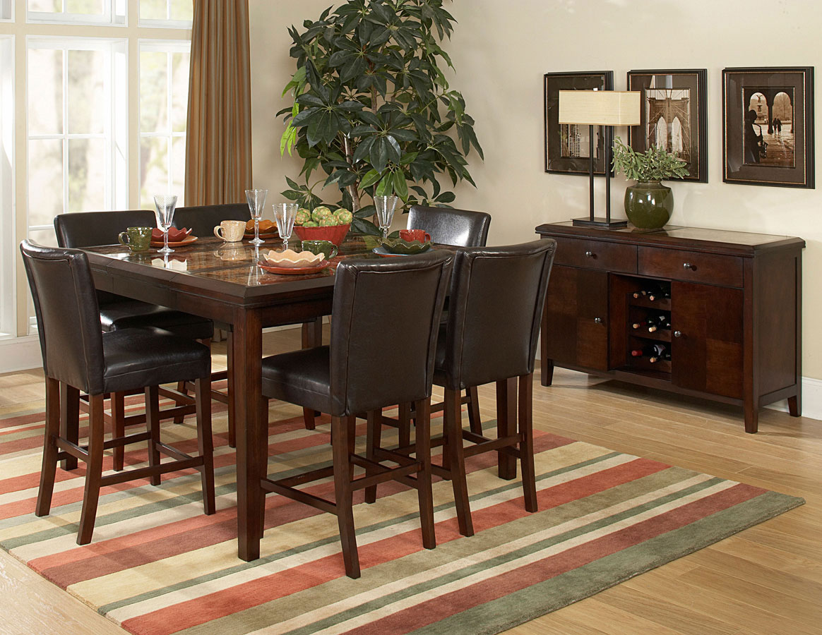High top dining table - Homelegance Belvedere Counter Height Dining Table