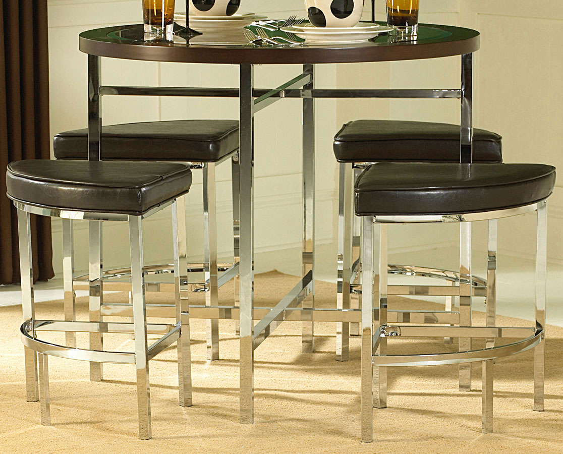 Homelegance Maine 5-Piece Counter Height Dining Set