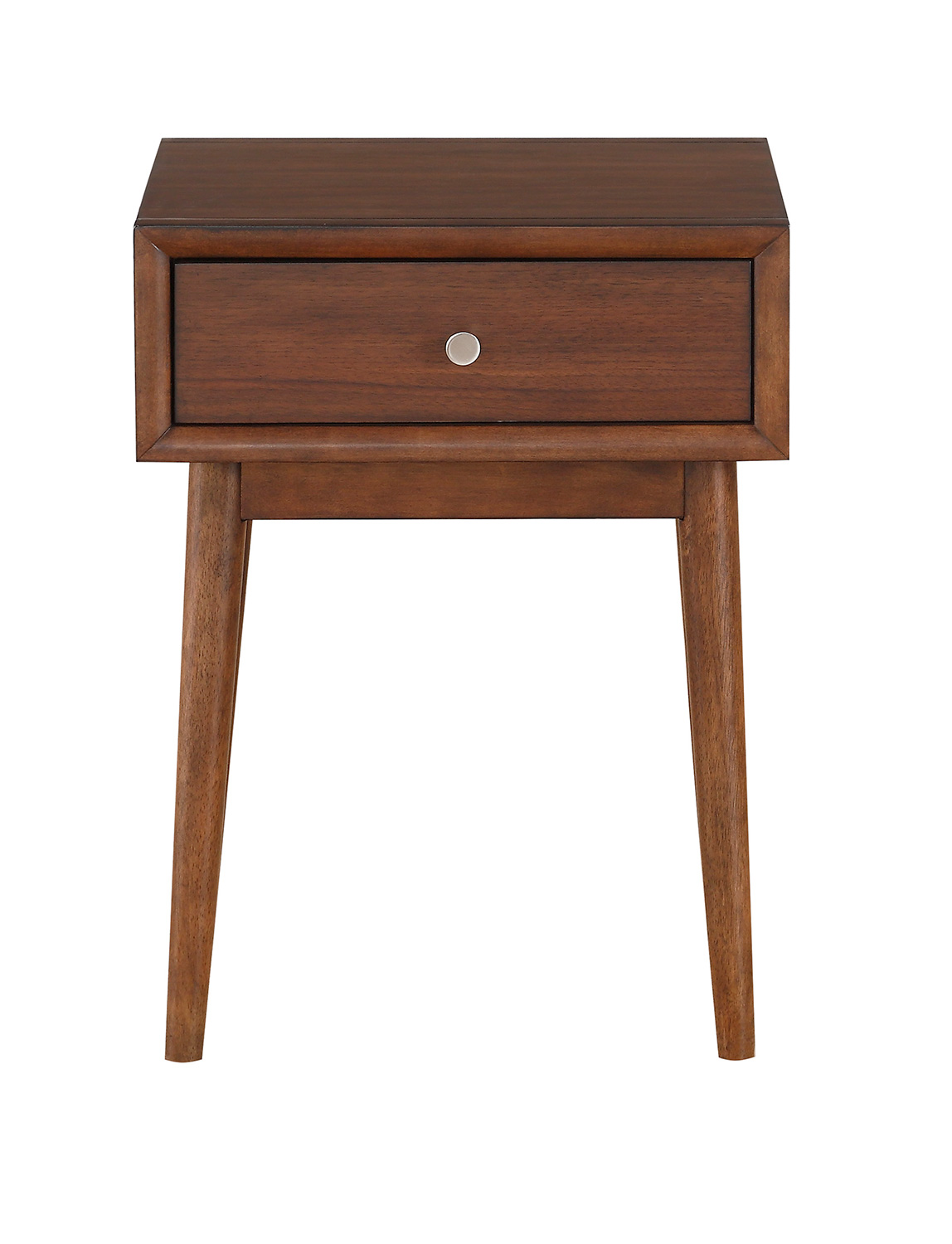 Homelegance Frolic End Table with Functional Drawer - Brown