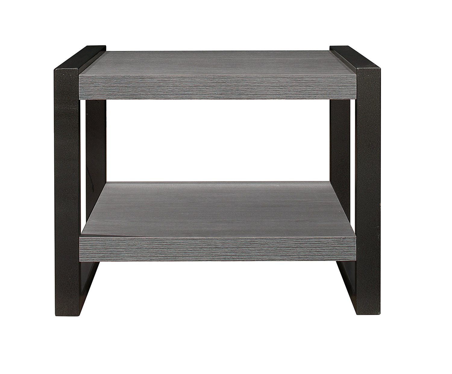 Homelegance Dogue End Table - Gunmetal Gray
