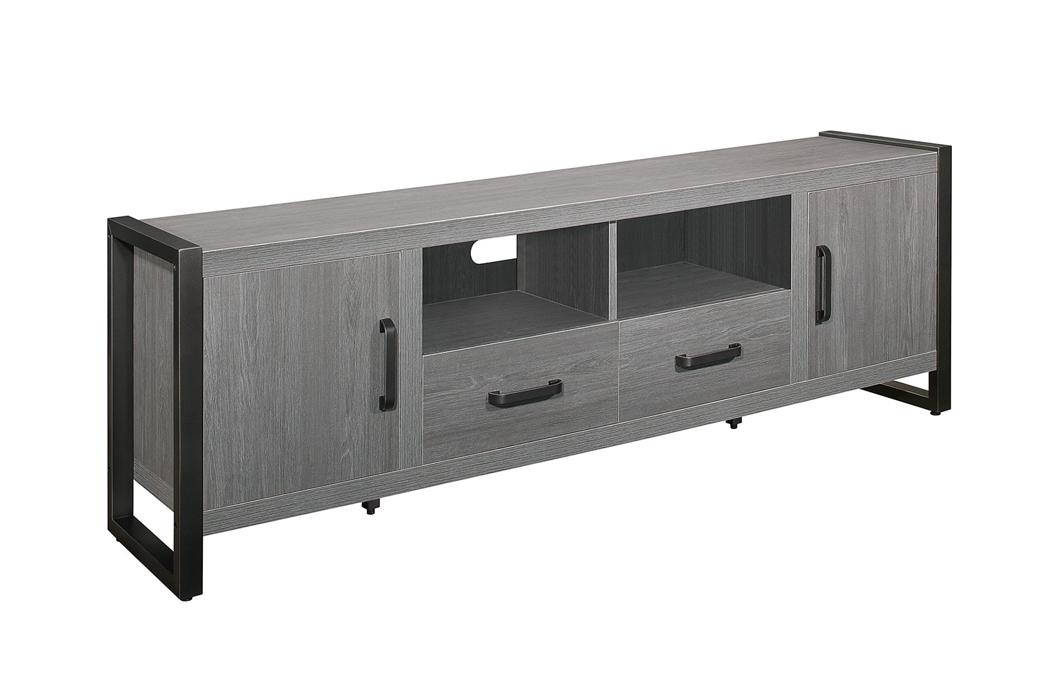 Homelegance Dogue 76-inch TV Stand - Gunmetal - Gray