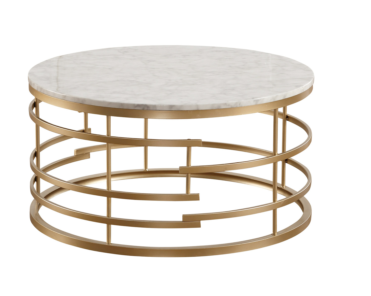 Homelegance Brassica Round Cocktail Coffee Table With Faux