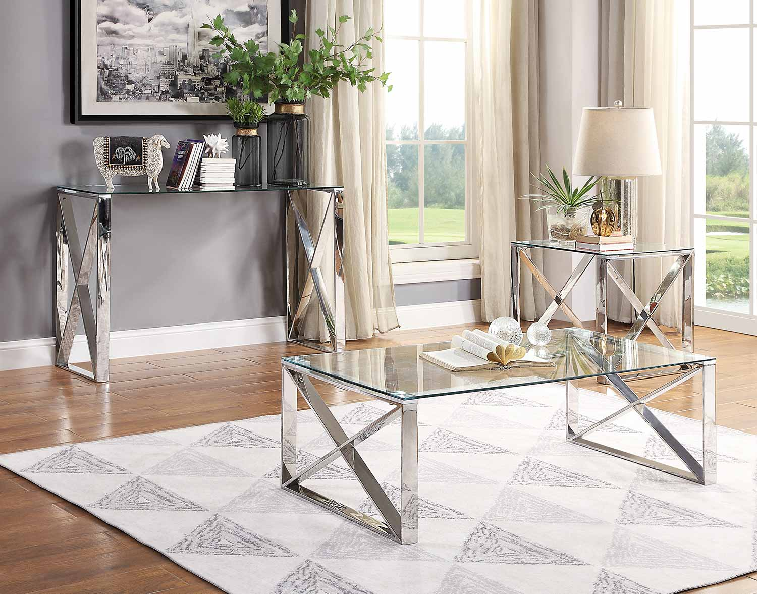 Homelegance Rush Collection - Polished Chrome