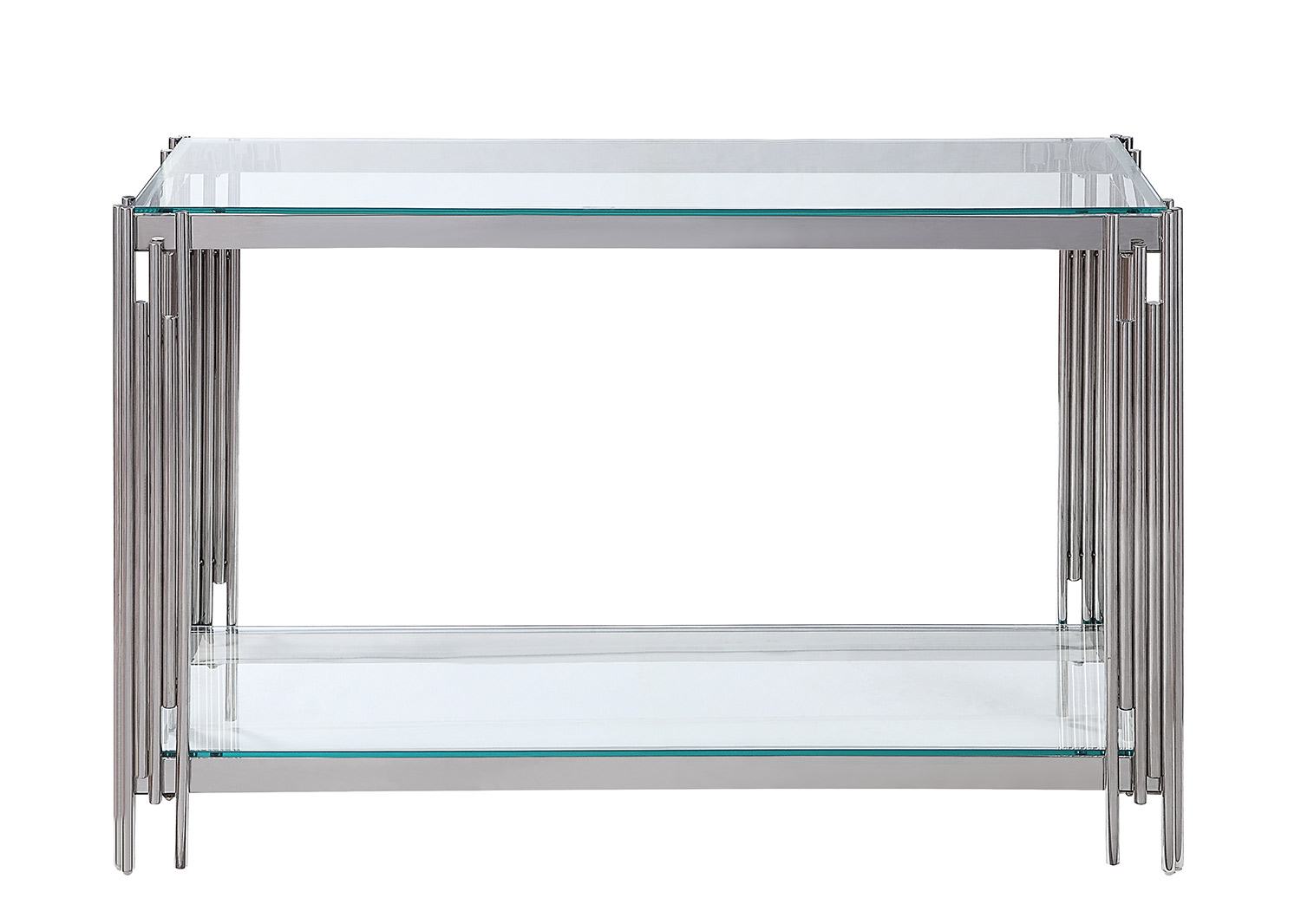 Homelegance Porfirio Sofa Table with Glass Top