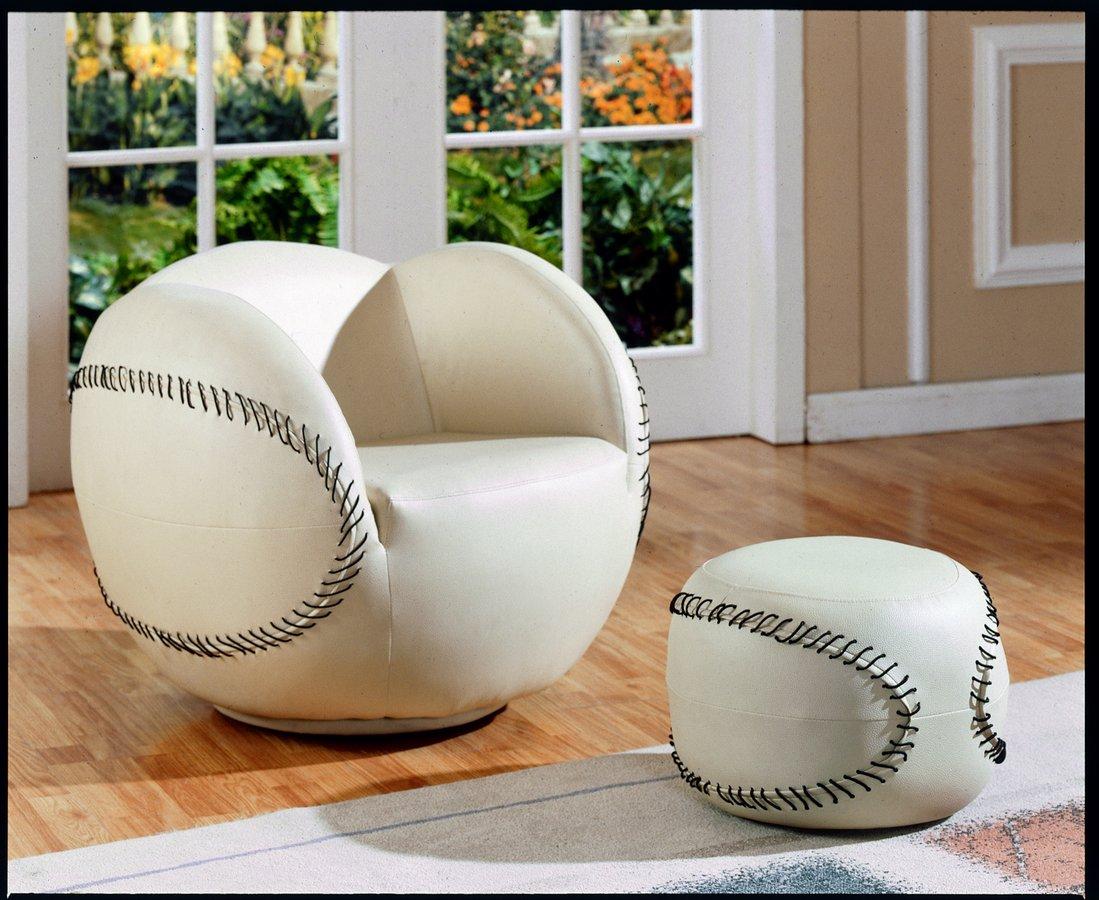 Homelegance Swivel Chair and Ottoman Baseball