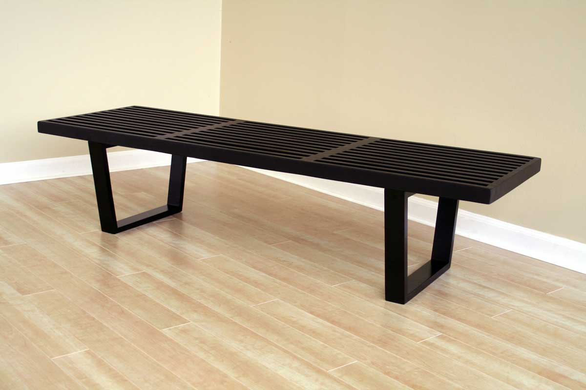 Wholesale Interiors Nelson Bench Black 4015 2 Black At