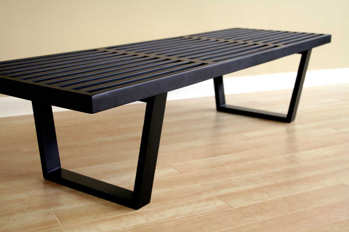 Nelson Bench - Black - Wholesale Interiors