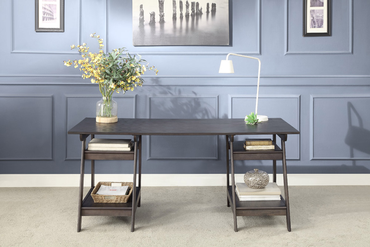 Homelegance Hilles Writing Desk - Dark Charcoal