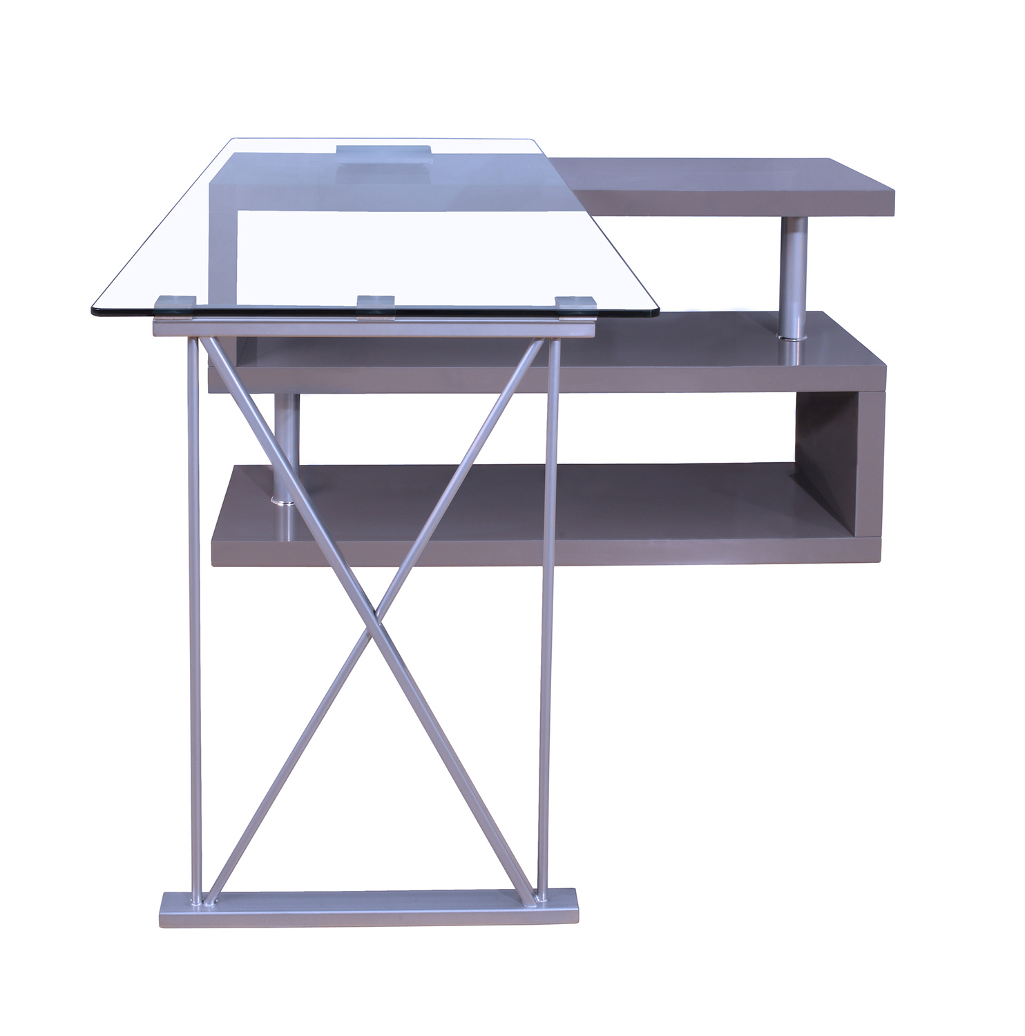 Homelegance Netto Writing Desk - Gray High Gloss