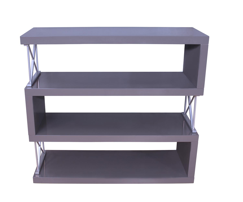 Homelegance Netto Bookcase - Gray High Gloss