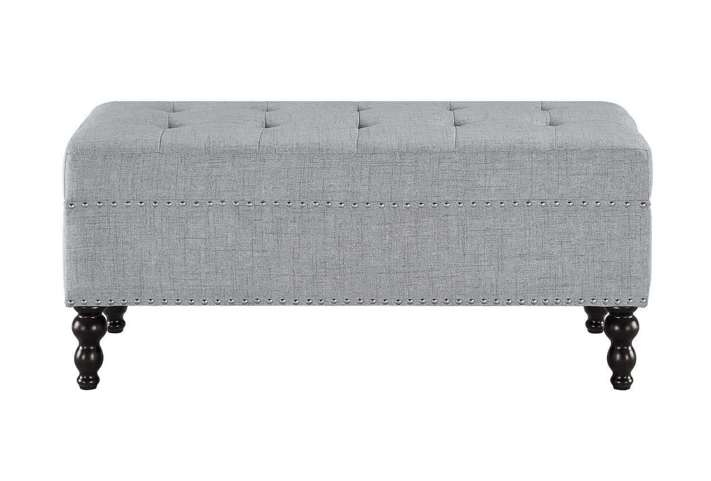 Homelegance Hamden Bench - Light Gray