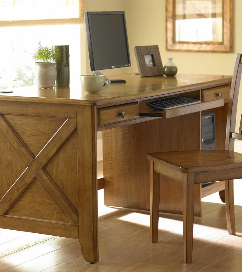 Homelegance Britanica Writing Desk KD in Oak 481AK