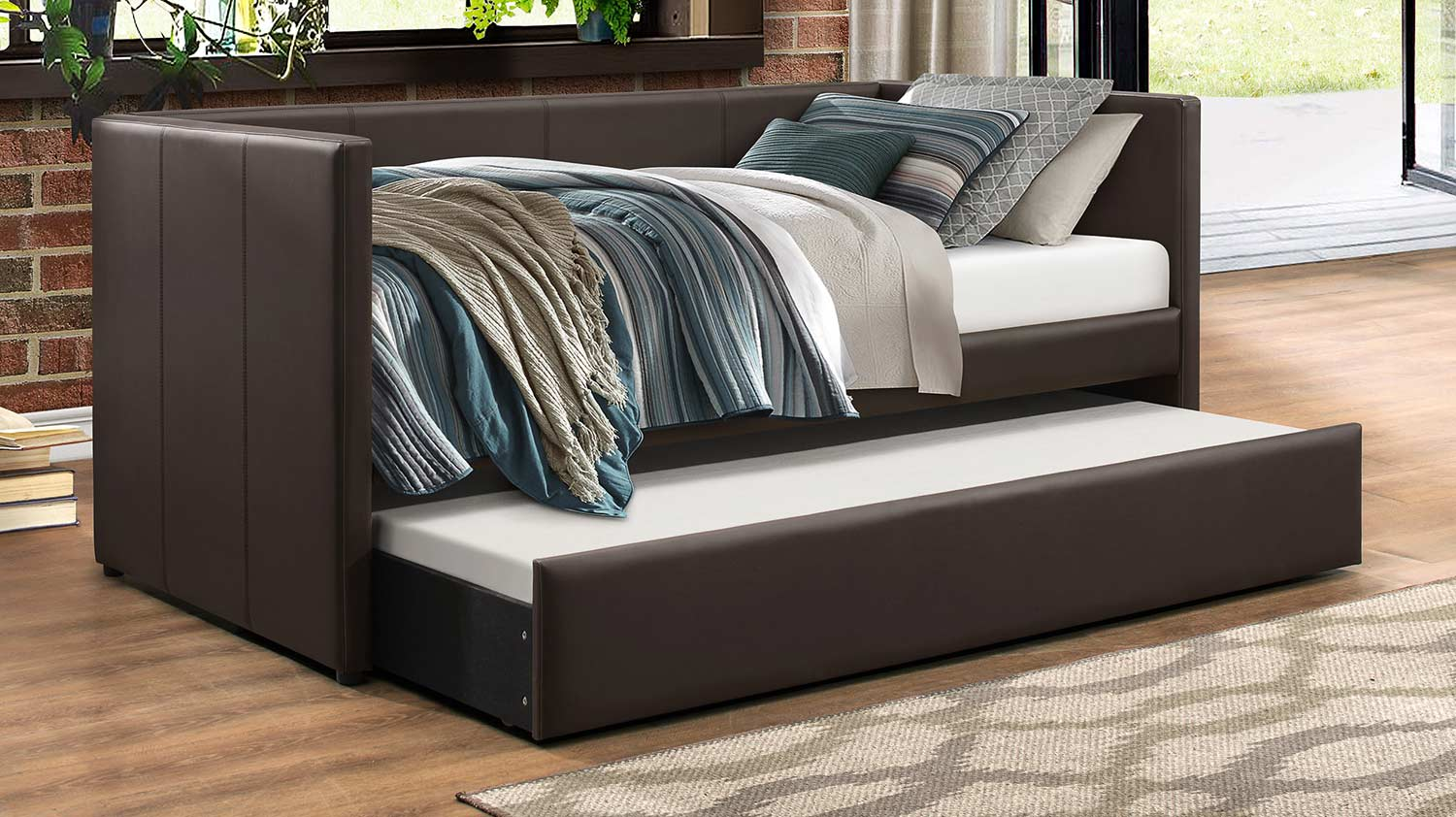 Homelegance Adra Daybed with Trundle - Dark Brown