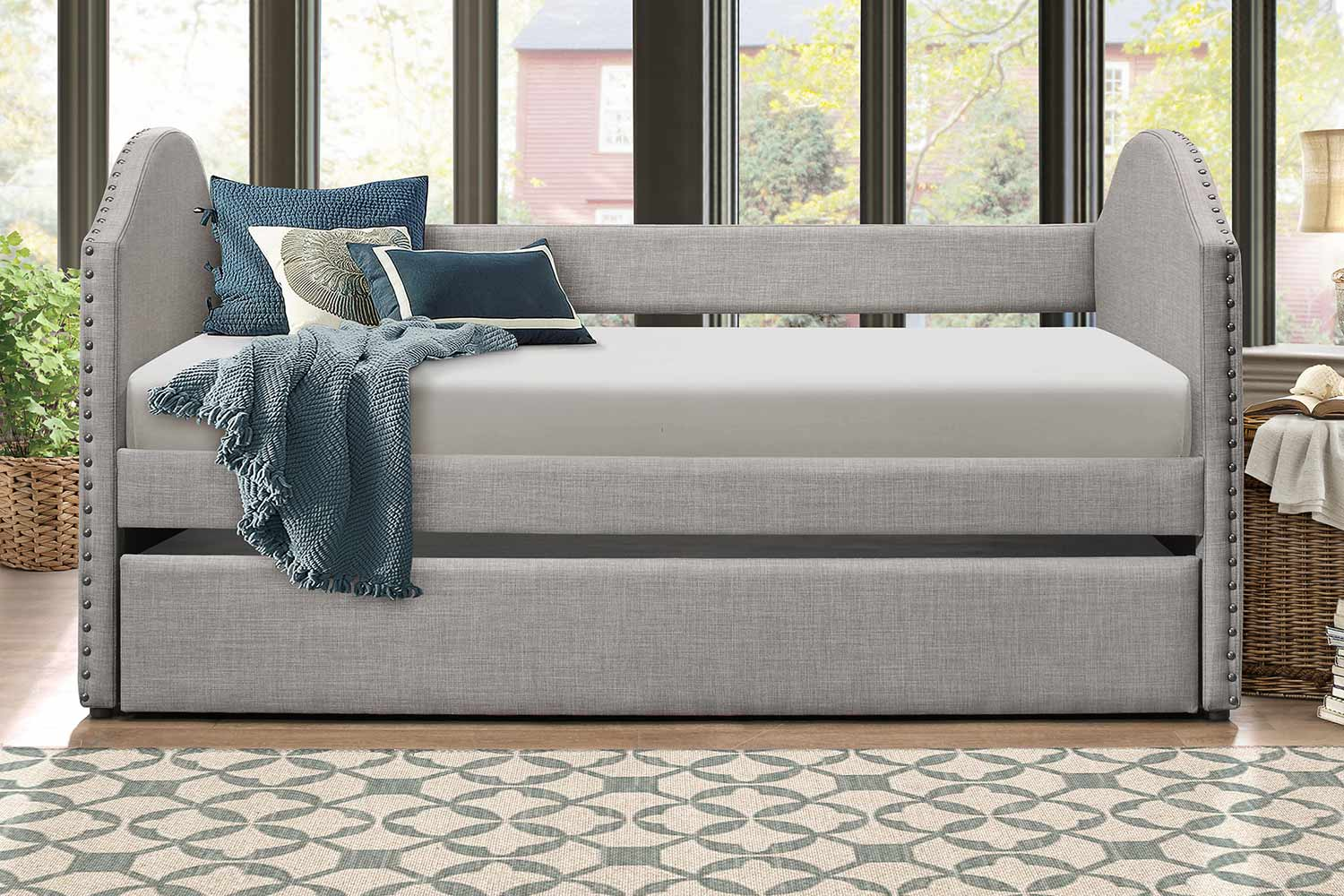 Homelegance Comfrey Daybed with Trundle - Gray