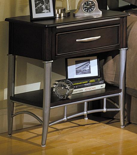 Homelegance Moda 1 Drawer with Shelf Night Stand