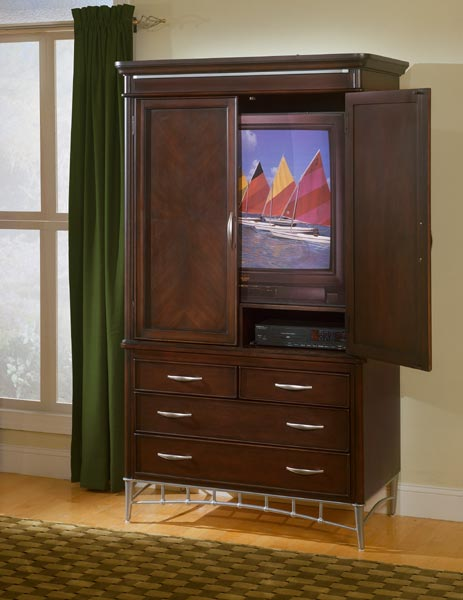 Homelegance Moda 4 Drawer 2 Door TV Armoire