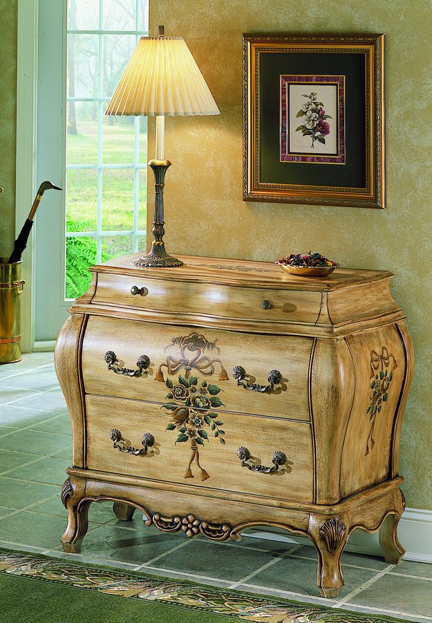 Homelegance Hand Painted Bombe Chest