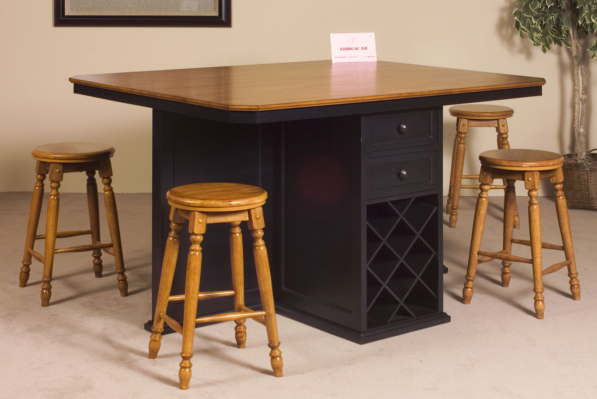 Homelegance Vineyard Kitchen Island Black Cherry