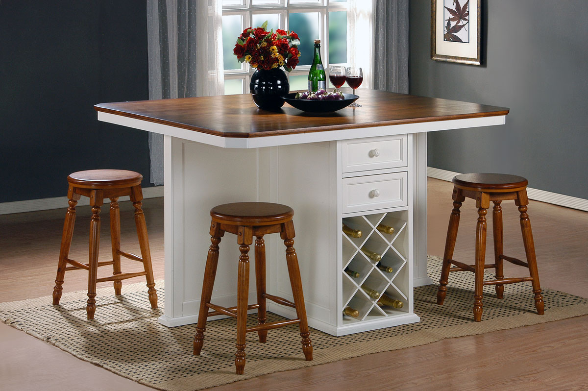 Homelegance Vineyard Kitchen Island White Cherry