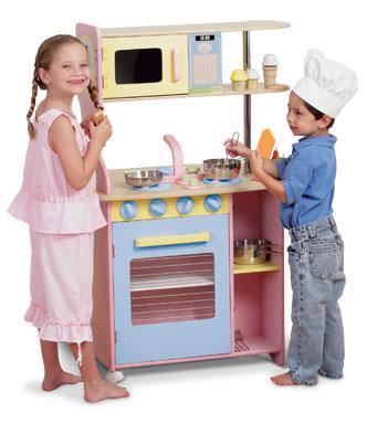 KidKraft Cooking up Fun KK Island Kitchen - Pastel