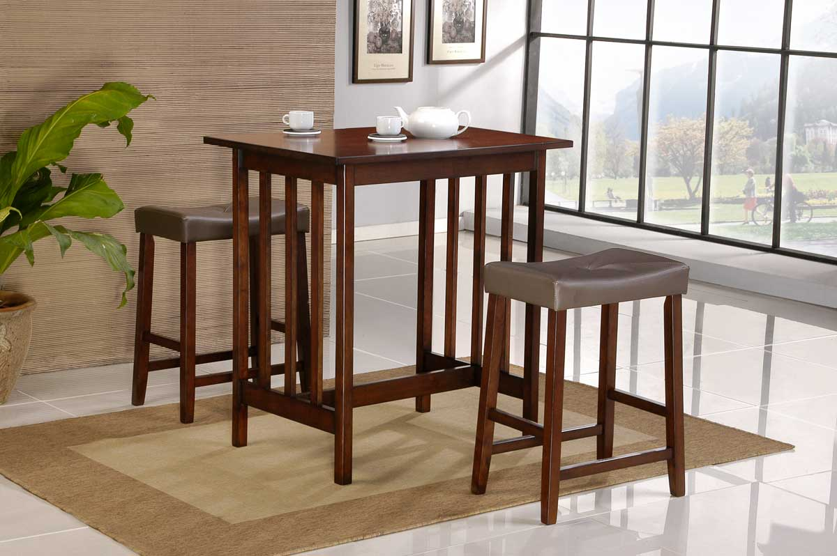 Homelegance Scottsdale 3 Pc Dinette Set in Cherry Finish