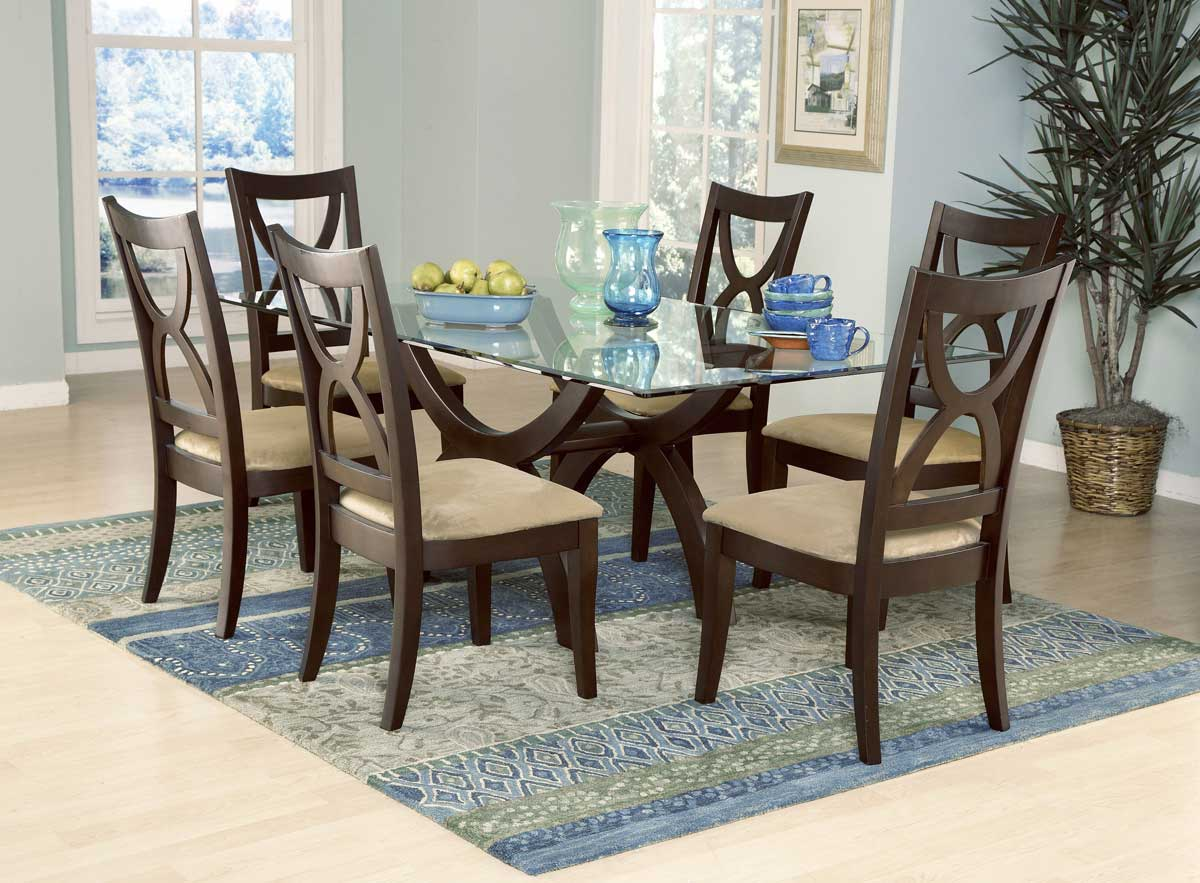 Homelegance Stardust Rect Glass Dining Table