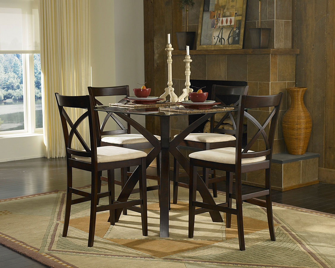 Homelegance Cantor 5-Piece Counter Height Dining Set
