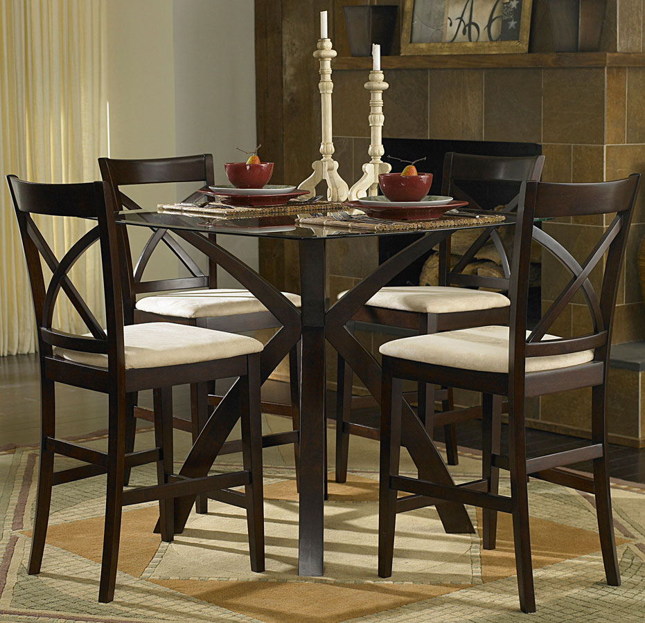 Homelegance Cantor 5-Piece Counter Height Dining Set 5380