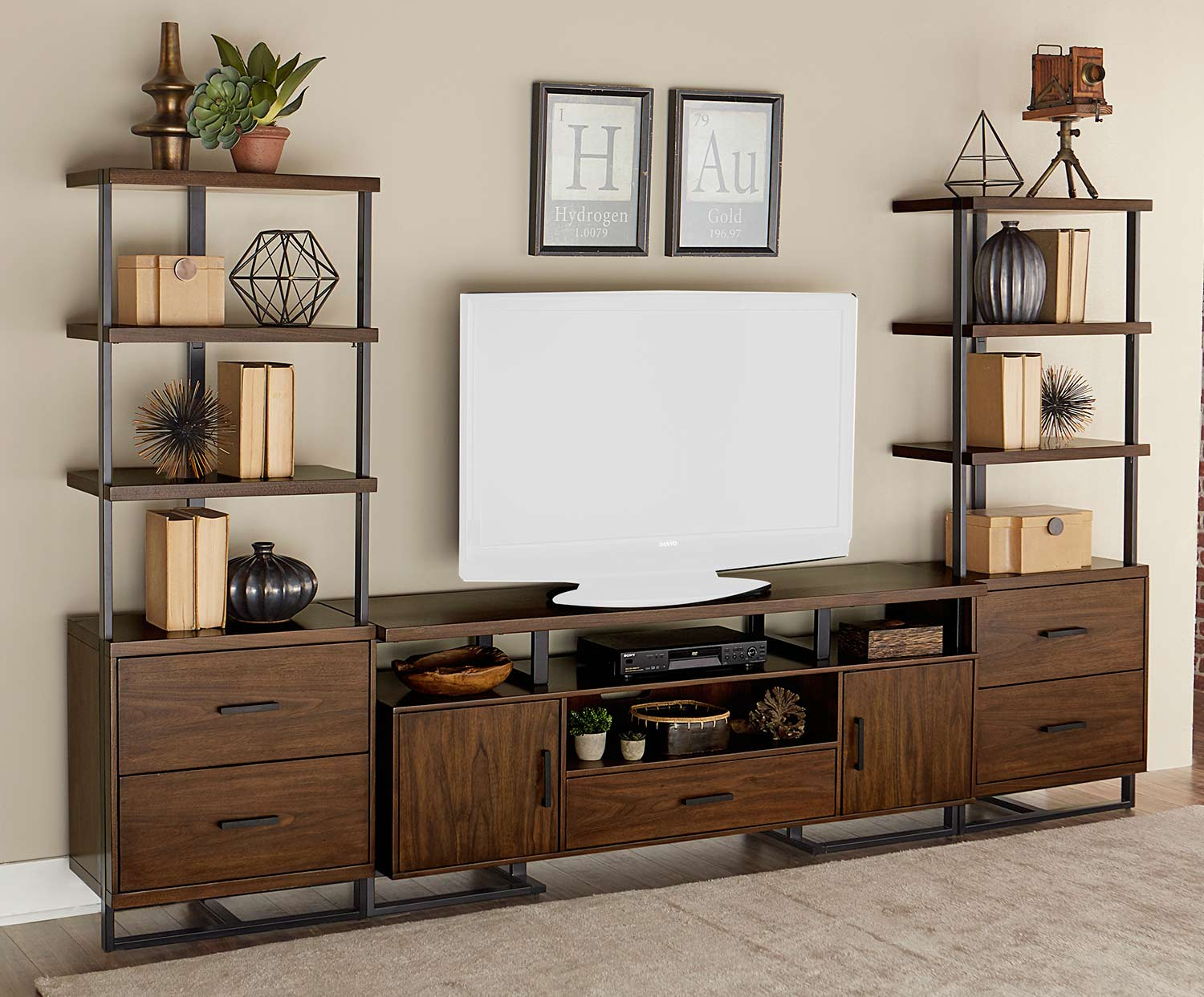 Homelegance Sedley 68-inch Entertainment Collection - Walnut Veneer