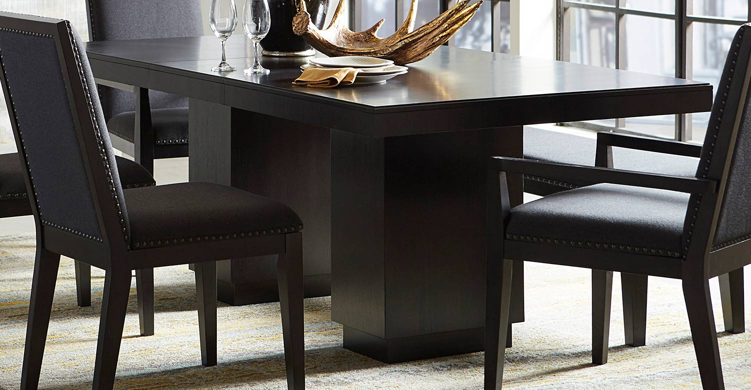 Homelegance Larchmont Dining Table - Charcoal - Over Ash Veneer.