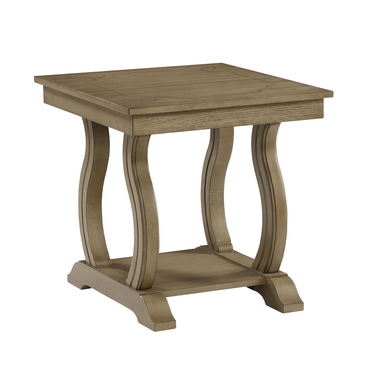Homelegance Vermillion End Table - Bisque