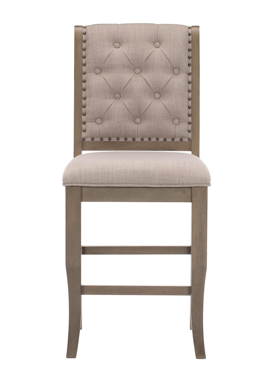 Homelegance Vermillion Counter Height Chair - Bisque