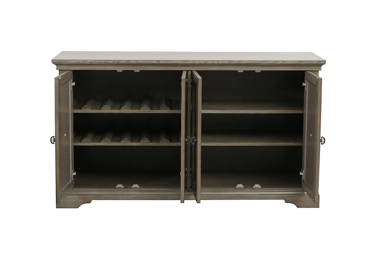 Homelegance Vermillion Server with Mirrored Door - Bisque