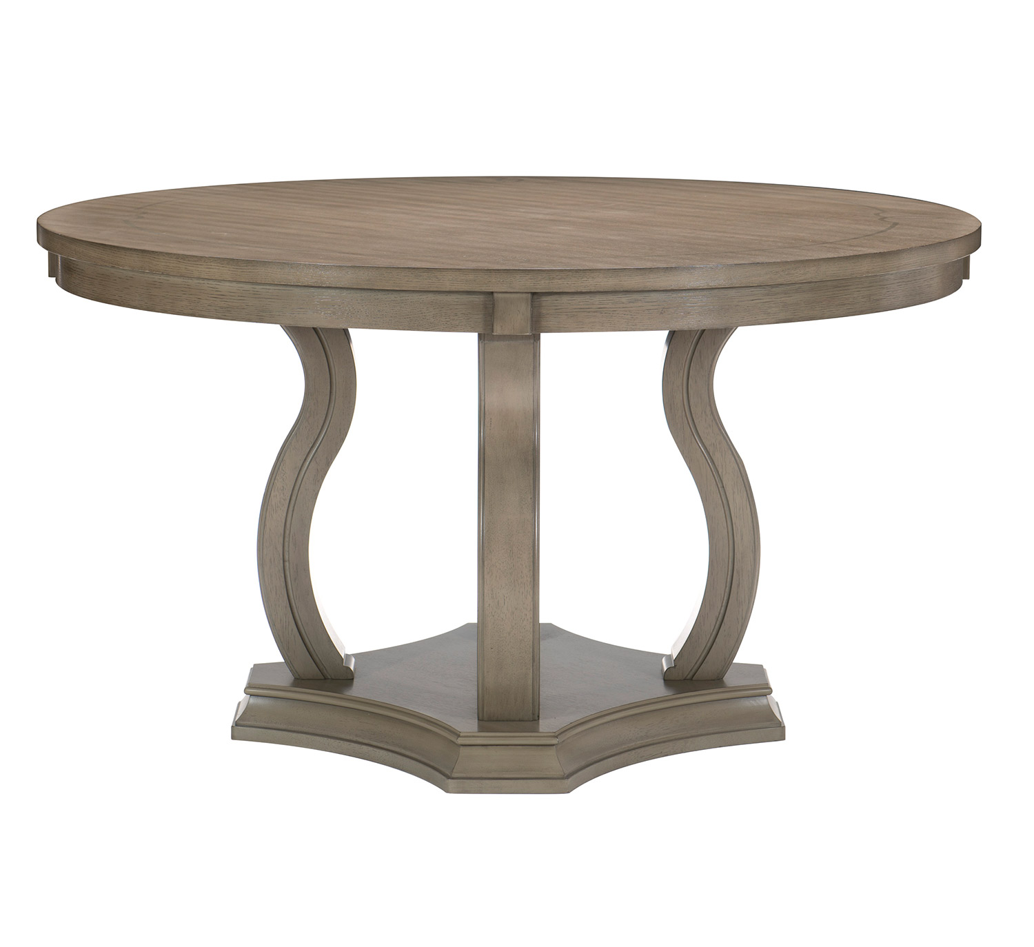 Homelegance Vermillion Round Dining Table - Bisque